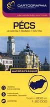 Pécs várostérkép 1:20 000